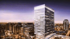 image of Eau Claire tower with submeters provided by QMC