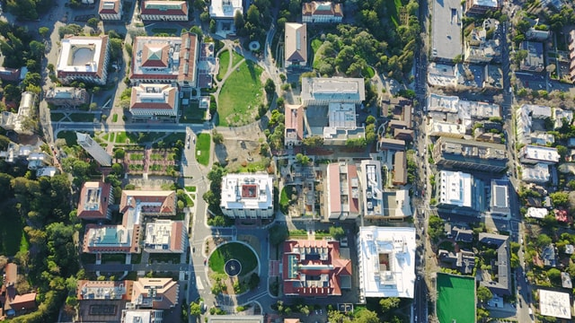 Bird's eye view of an institutional property using Advanced Institutional Metering from QMC