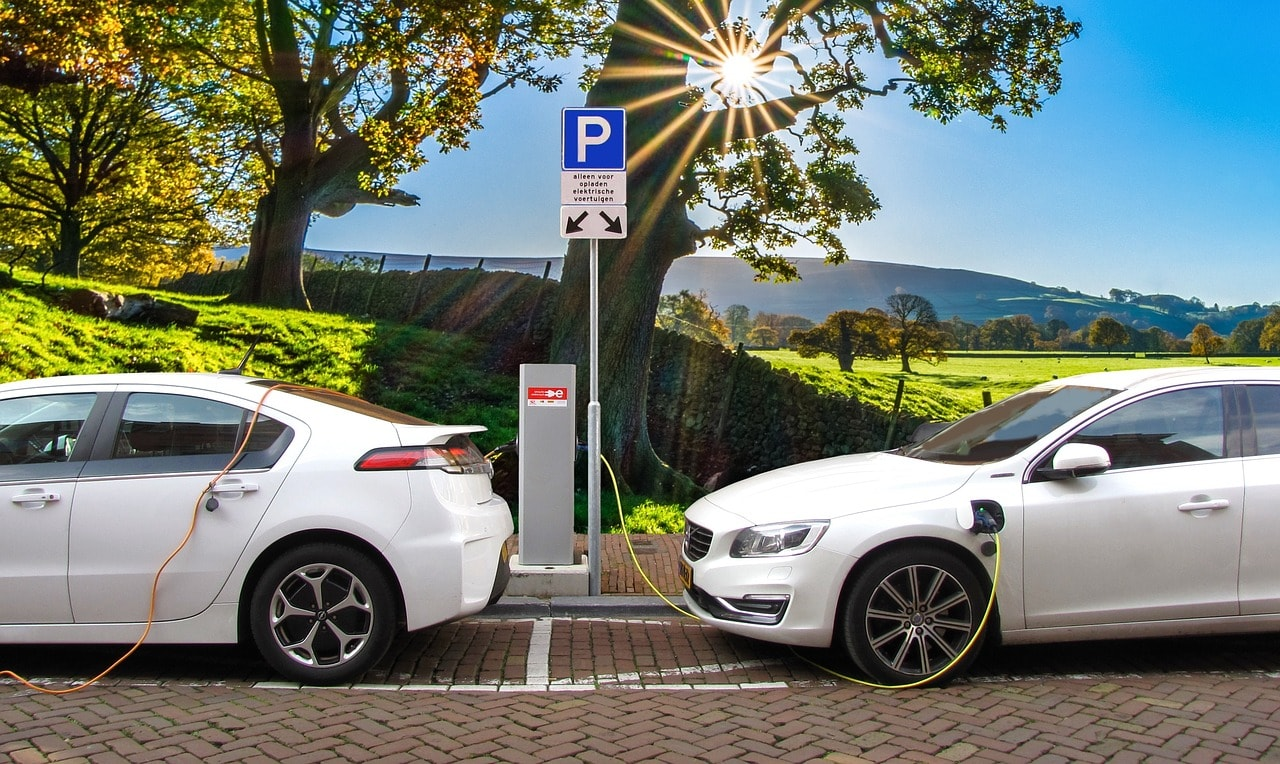 image of electric vehicles parking in EV capable parking spots