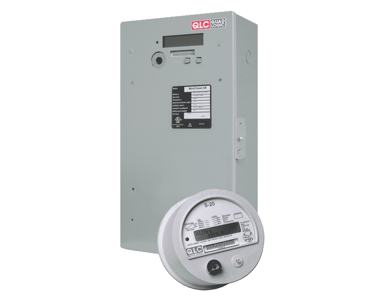 Image of a RSM5 and S20, electricity submeters that QMC sells