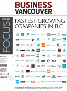 Image of Business in Vancouver with QMC featuring in the top 100 fastest growing companies
