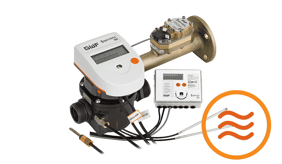 Image of Thermal submeters QMC has available, from the GWF 440 to the GWF 789