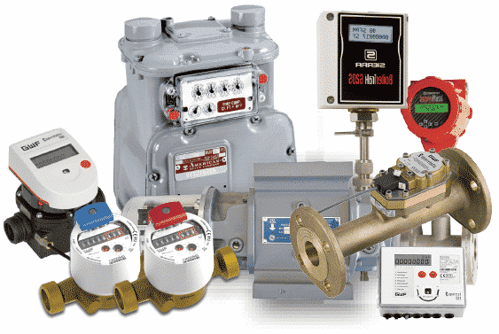 Image of all QMC available mechanical meters