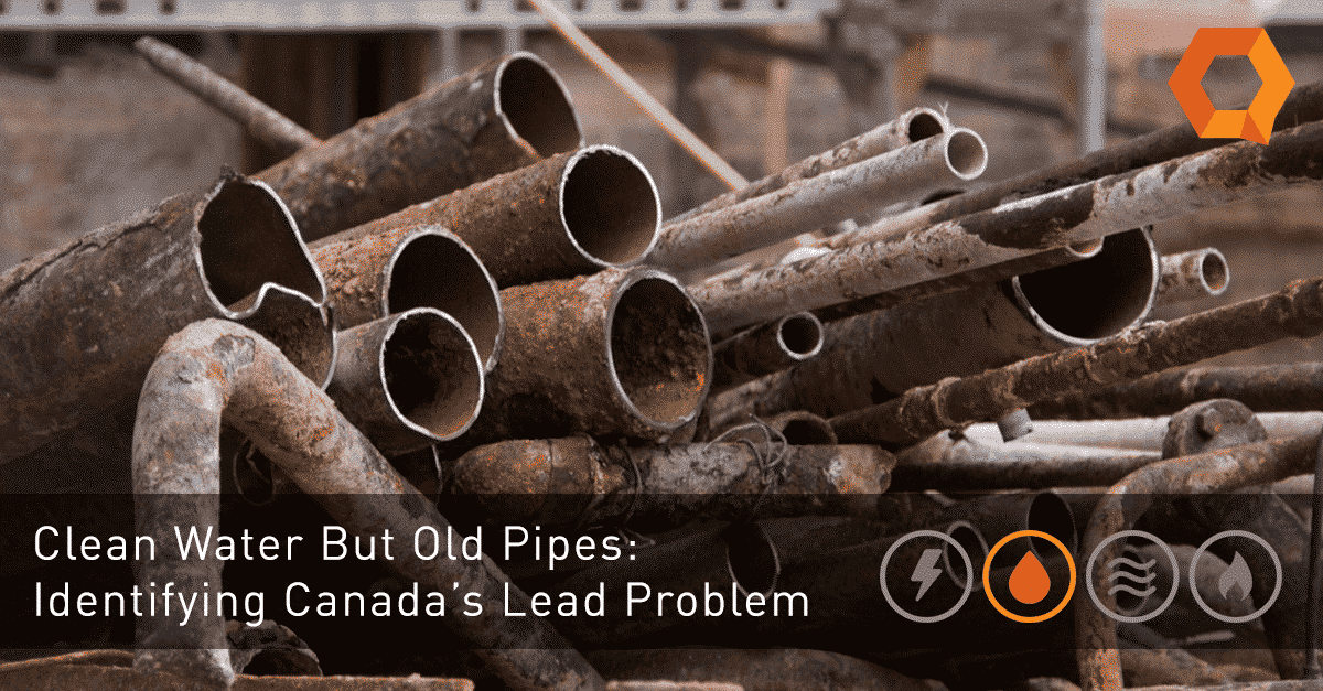 Image of rusty pipes, Identifying Canada's Lead Problem