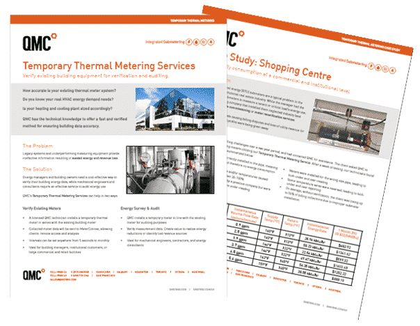 Image of a PDF of our Temporary Thermal Meter Services as well as a Case Study for Shopping Centres