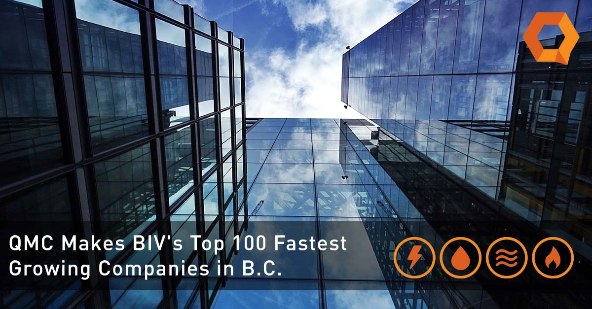 Photo of building in Vancouver. QMC ranks as number 33 in BIV fastest growing companies.